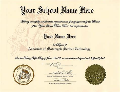 Fake Skill Certificates Diploma Seal Template