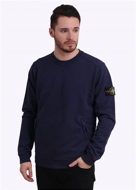 Sweater Hoodie Evil Corp Navy Front Logo island zip logo sweatshirt navy