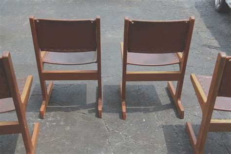 Sw Wood Furniture by Southwest Style Leather And Wood Chairs Labeled Quot Artesano