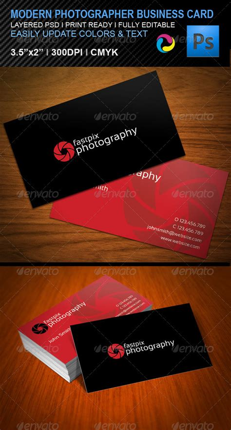 graphicriver wedding photography business card template modern photography business card graphicriver