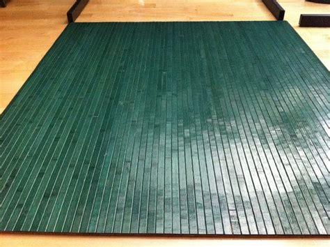 forest green bamboo chair mat office floor mat wood