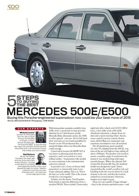 mercedes porsche 500e 500e porsche cars history