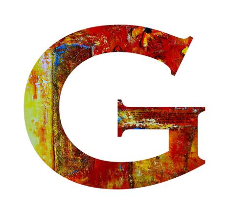 Letter Painting Alphabet Letter G Painting By Awapara