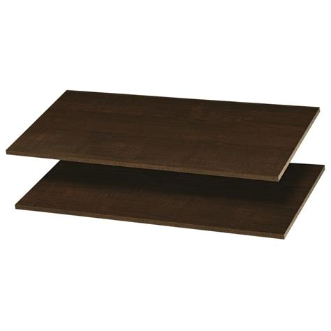Closet Shelf Track by Shop Easy Track 35 In W X 14 In D Truffle Wood Closet
