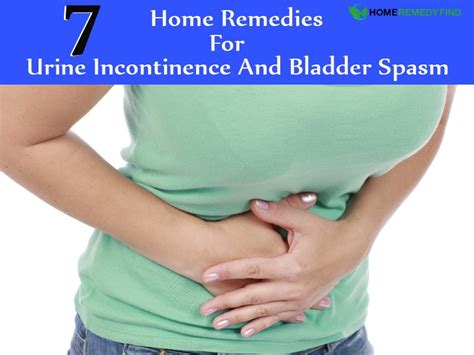 7 effective home remedies for urine incontinence and