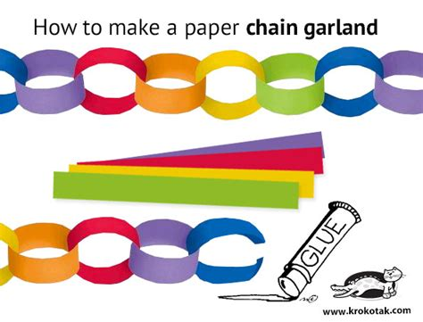 How To Make A Paper Chain - how to make paper chains best chain 2018
