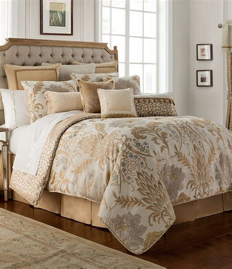 Dillards Home Decor by Waterford Ansonia Floral Jacquard Comforter Set Dillards