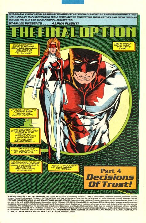 classic vol 1 100 marvel database fandom powered by wikia alpha flight vol 1 100 marvel database fandom powered by wikia