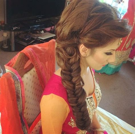 pic braids styles pakistani and indin bridal hairstyles for stylish women 2017