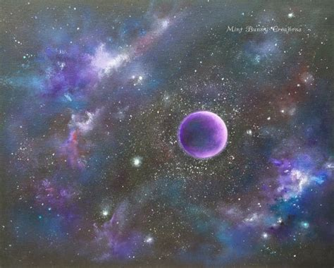 acrylic painting a galaxy items similar to galaxy painting original acrylic