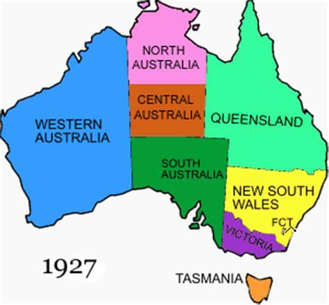 map states of australia territorial evolution of australia