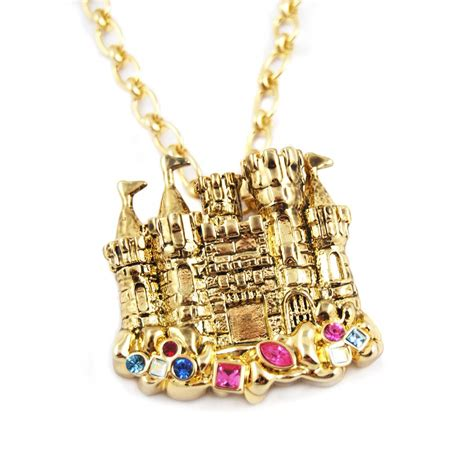 mermaid sand castle necklace by disney couture