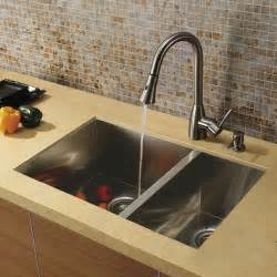 Kitchen Sinks Stainless Steel Undermount Vigo Undermount Stainless Steel Kitchen Sink Faucet And Dispenser Modern Kitchen Sinks By