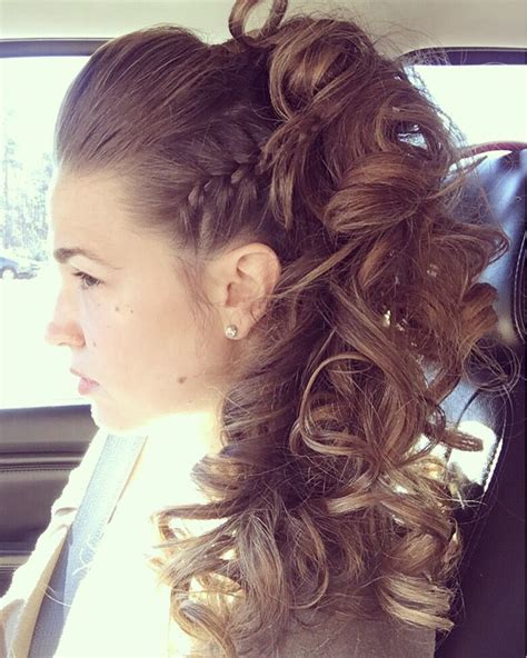 prom hair salon haircuts funky updo half up tommy herring at azul salon and spa