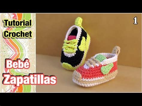 zapatos crochet paso a paso youtube c 243 mo tejer zapatillas patucos escarpines para beb 233 a