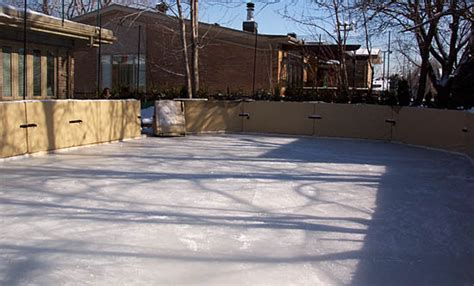 backyard skating rink construction backyard ice rink refrigeration system outdoor furniture