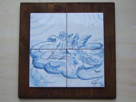 piastrelle incollate su piastrelle pannello piastrelle angeli ceramica per la casa e per te