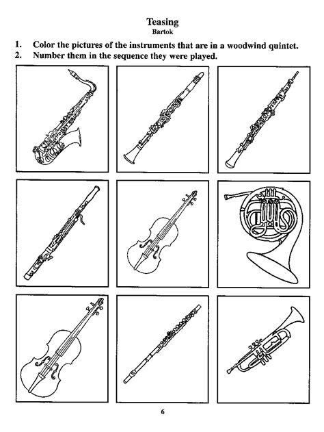 wind instruments coloring pages 10 images of brass instruments coloring pages brass