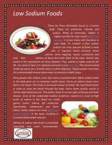 food low sodium foods