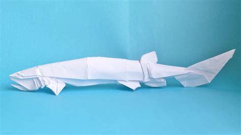 Origami Sharks - frilled shark test fold by peteridish on deviantart