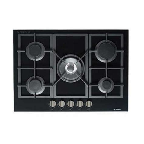 Flat Cooktop Premium Black Gas On Glass Cooktop With Flat Trivet