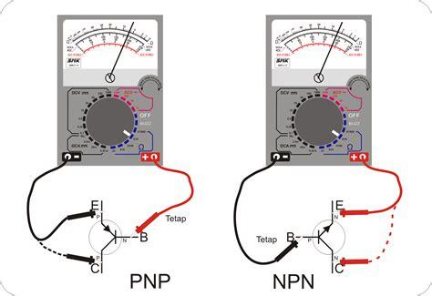rangkaian transistor pnp dan npn cara menguji transistor jenis pnp npn septian ahmad cahaya adhy