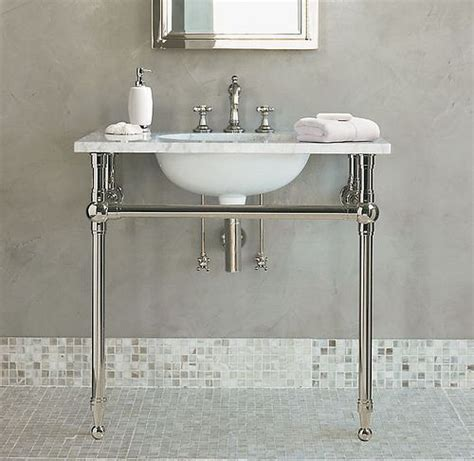 pedestal sink with legs sink with chrome legs ideas for a bathroom