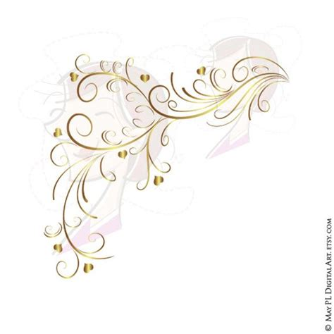 wedding invitation border designs gold gold retro swirl page border decoration curly flourishes wedding graphics