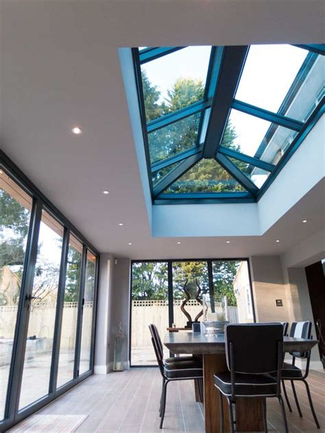 internal view  aluminium roof lanterns house extension