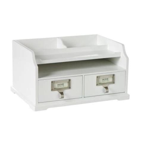 White Desk Organizer Home Decorators Collection 13 25 In W White Desk Organizer 0827800410 The Home Depot