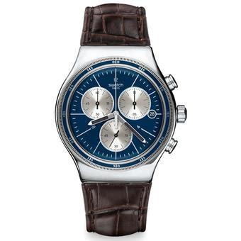 Jam Tangan Swatch Biru swatch jam tangan pria bening biru coklat tua gm415