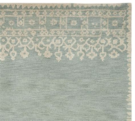 pottery barn desa rug desa bordered wool rug blue pottery barn