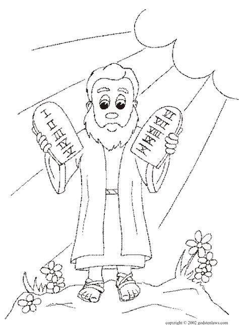 Free Coloring Pages Of Moses And 10 Commandments Coloring Pages 10 Commandments