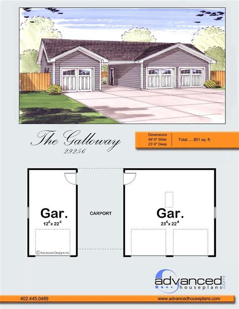 Advanced House Plans by Galloway Garage By Advanced House Plans