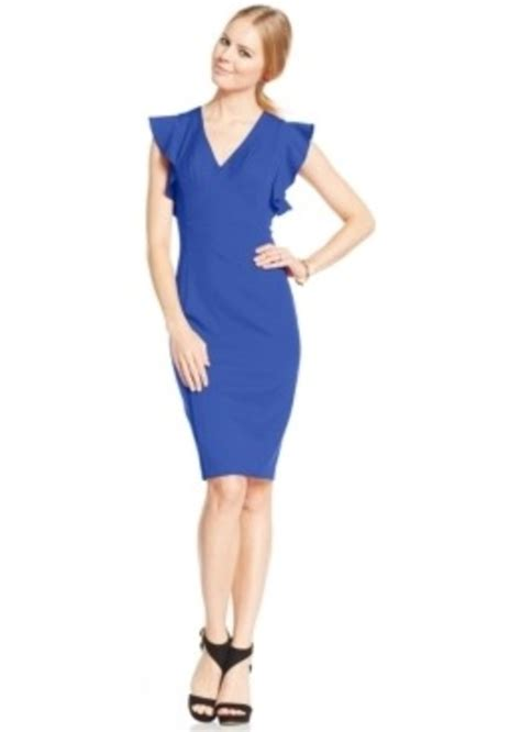 Xoxo Dress xoxo xoxo juniors ruffled sleeve sheath dress dresses