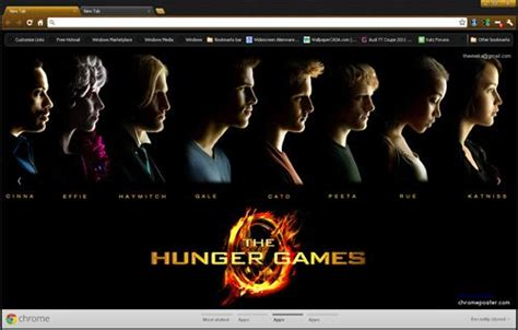 themes in hunger games book the hunger games chrome theme install http www