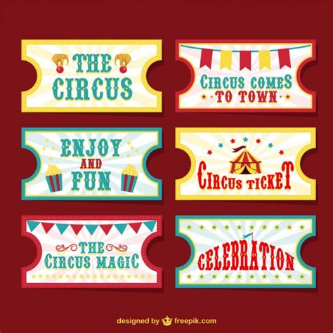 printable circus tickets circus tickets vector free download