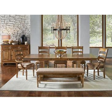 america furniture bennett  piece trestle dining room