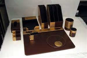 Luxury Desk Accessories Luxury Leather Office Desk Set Manufacturer Supplier Exporter Ecplaza