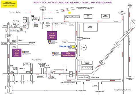 layout uitm shah alam peta map uitm puncak alam ada urusan di shah alam klang