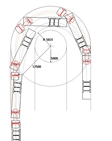Articulated Lorry Turning Circle Cadillac Truck Turning Radius Template Dwg