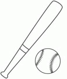 baseball bat template free baseball bat coloring pages