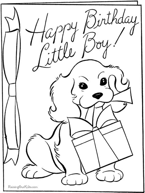 brithday card coloring page template free printable happy birthday coloring pages for