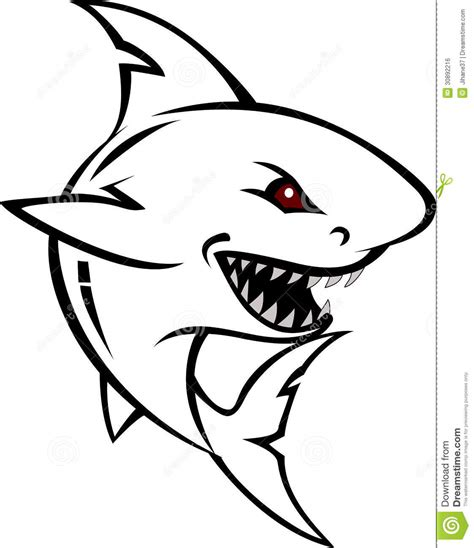 shark tattoo design stock illustration image of mascot