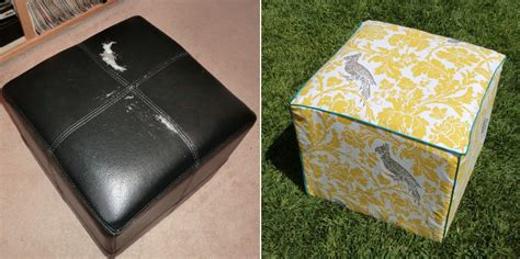 how to cover a ottoman recover a cube ottoman 171 best fabric store blog