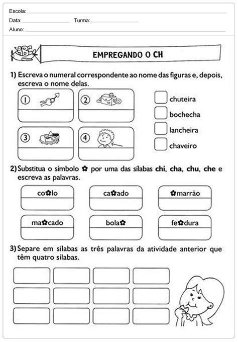 Uso do CH - Atividades de Português para o 2º ano