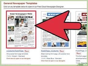 Vorlage Word Zeitungsartikel Een Krant Maken In Word Wikihow