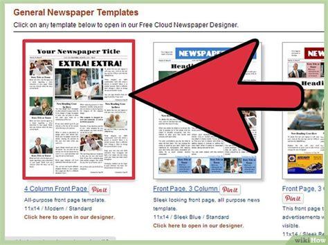 kranten layout word een krant maken in word wikihow