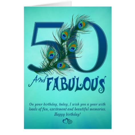 50th birthday card template 50th birthday template cards zazzle