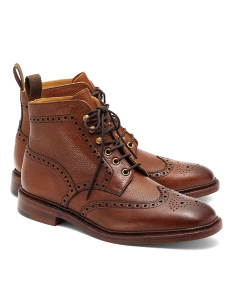 wing tip boots peal co 174 pebble wingtip boots brothers